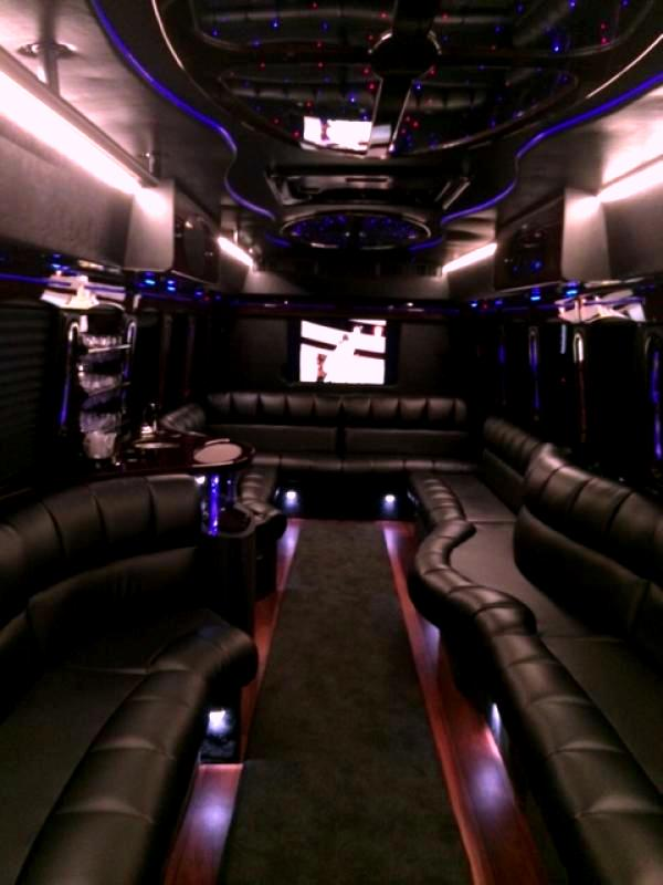 Ultimate 10 Mercedes Party Bus Interior