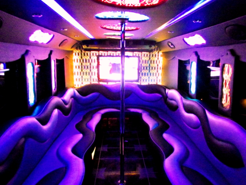 Ultimate 5 Custom Party Bus Interior