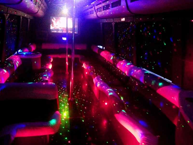 Ultimate 9 Mercedes Party Bus Interior