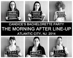 Bachelorette Party Mug Shots