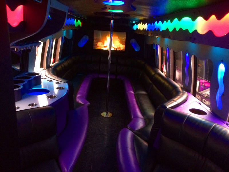 Ultimate 7 Custom Party Bus Interior